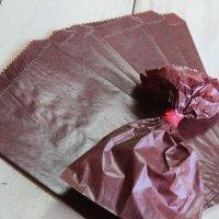 日本製 チョコレートグラシンペーパーバック 10枚入り