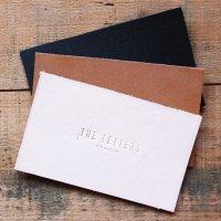 THE LETTERS 本革ハギレシリーズ レザー名刺カード