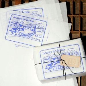 画像1: ベルギー 牛さん柄 バター包み紙
