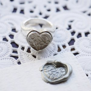 画像2: [THE LETTERS] WAXSEALINGJEWELRY SIGNET RING Love[愛] 〜真実の愛〜