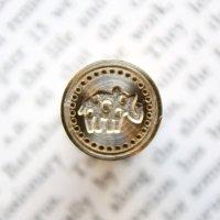 《Wax Seal Jewelry》 シーリングワックス スタンプ15mm 水玉動物 ゾウ
