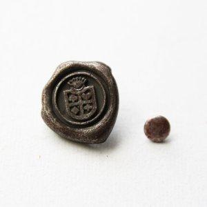 画像1: CAFE PAPIERオリジナル赤錆メッキ カシメ 紋章