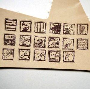 画像2: THE LETTERS オリジナル切手スタンプ 音楽