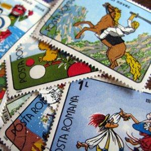 画像2: ラッピングやコラージュに 世界の古切手 おとぎ話 10枚入り
