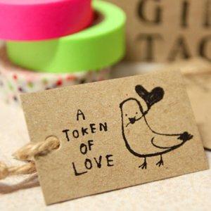 画像1: yamakami-letters GIFt TAG ギフトタグ・荷札 A TOKEN OF LOVE