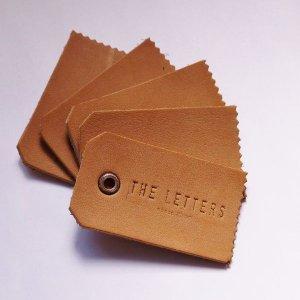 画像2: THE LETTERS 本革ハギレシリーズ レザータグ Sサイズ