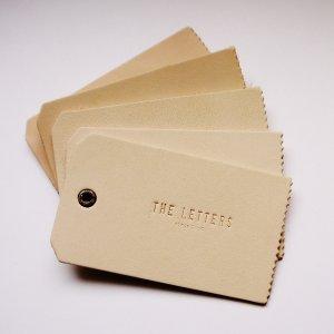 画像2: THE LETTERS 本革ハギレシリーズ レザータグ Mサイズ