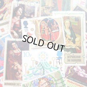 画像3: ラッピングやコラージュに 世界の古切手 クリスマス 10枚入り
