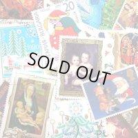 ラッピングやコラージュに 世界の古切手 クリスマス 10枚入り
