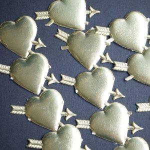 画像1: ドイツのクロモス Heart&arrowゴールド 特別なラッピングに♪