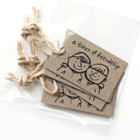 yamakami letters gift tag ギフトタグ 荷札 a token of friendship